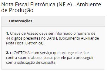 Portal NFe MG - Instruções para Consulta de NFe