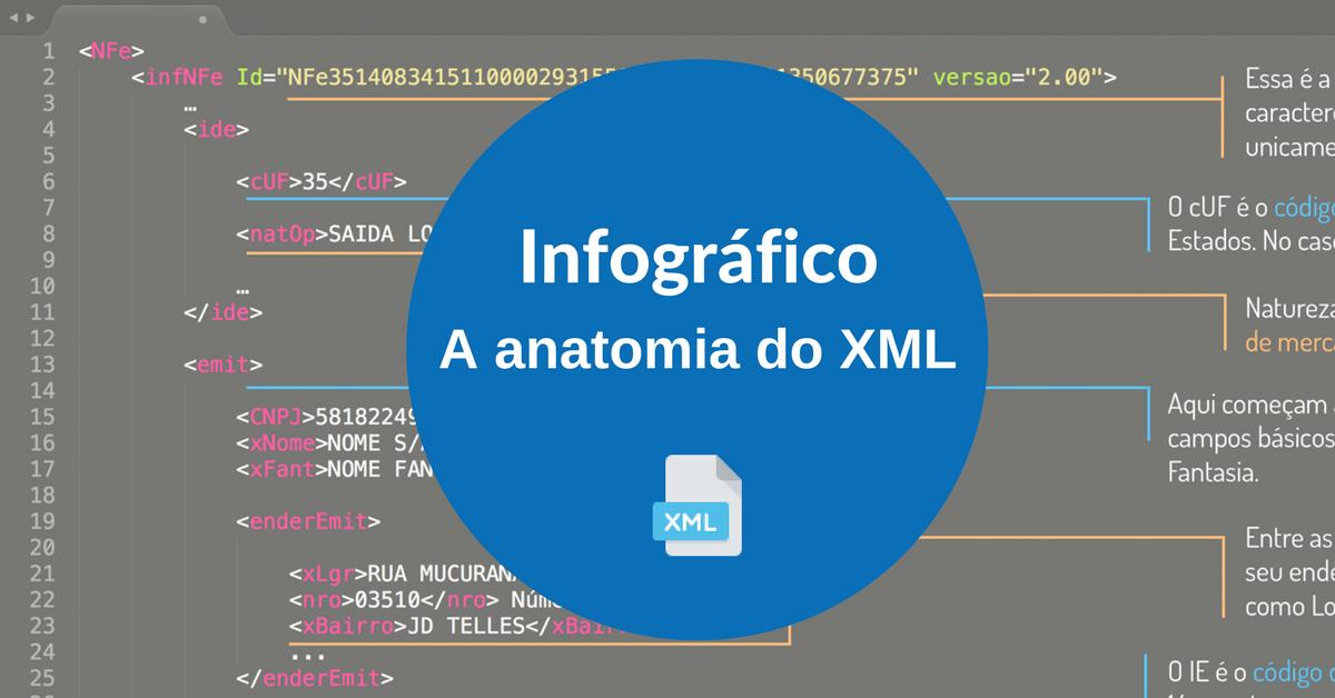 A anatomia do XML - Infográfico