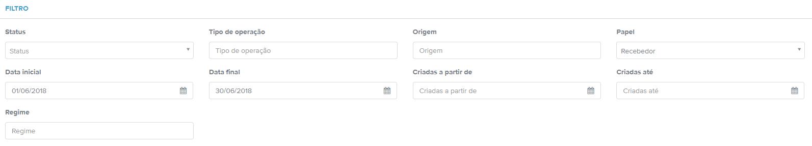 Filtro de NFSe na plataforma do Arquivei
